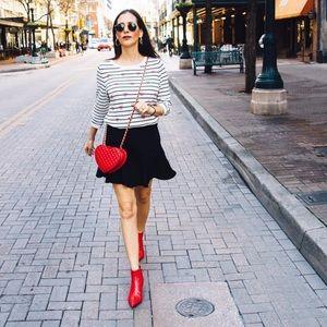 Zara red animal print heels boots